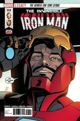 The Invincible Iron Man #599 Marvel Legacy - 1St Print - Boarded. Free Uk P+P