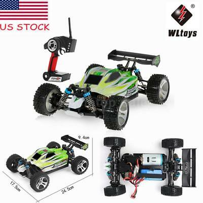 Gift WLtoys A959-B 2.4G 1/18 4WD 70KM/H Electric RTR Off-Road Buggy RC Car US