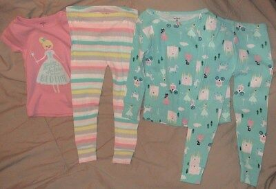 Fairy Tales Before Bed Time-Carter's Pink & Blue 4 Piece Sleep Set-Size 2T-New