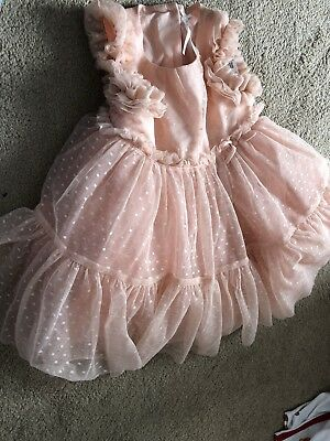 Next Girls Net Layered Spotted Dress Size 12 18 Months New With Tags