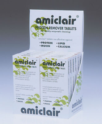 Amiclair Enzyme Protein Remover Cleaning Tablets Tablet refill for All Lenses