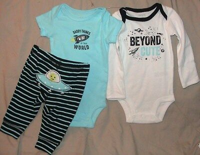 Daddy Thinks I'm Out Of This World/beyond Cute-3 Piece Outfit-Size Newborn-Nwt