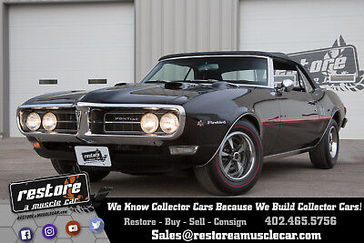1968 Pontiac Firebird - 400 - 4 Spd Convertible - Beautiful Triple Black 1968 Firebird 400 - 4 Speed Convertible - Beautiful Triple Black