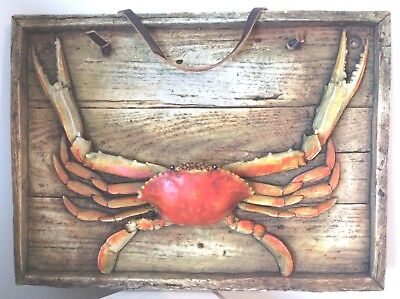 """Mounted Taxidermy Crab On Hard Surface - Great For Man Cave or Restaurant 15""""x11"""