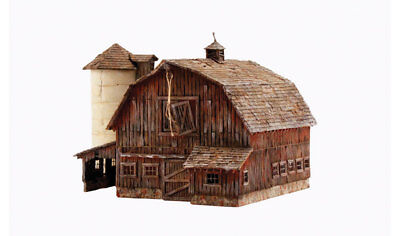 Woodland Scenics BR4932 N Scale Built-Up Old Weathered Barn