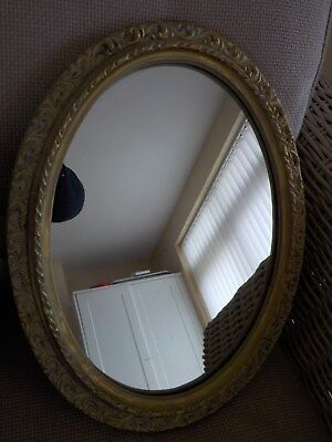 Oval mirror authentic reproduction regency