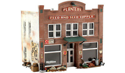 Woodland Scenics PF5201 N Scale Planters Feed and Seed Supply Building Kit