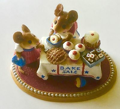 """Fourth of July Wee Forest Folks """"Mousey's Bake Sale"""" #220"""