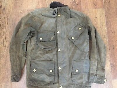 "Barbour Military Nato M12 International Wax Cotton Green Jacket 34""/86Cm Xs"