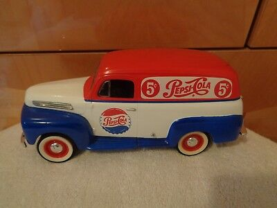 Limited Edition 1996 Pepsi-Cola Die Cast 1948 Ford Car Bank 1 0F 3600 Made