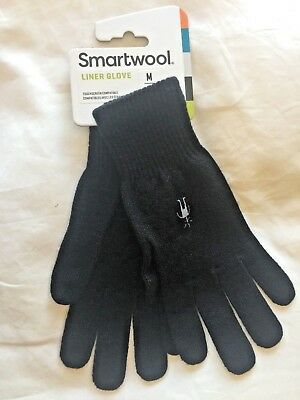Merino SMARTWOOL LINER GLOVES, Medium, Black!