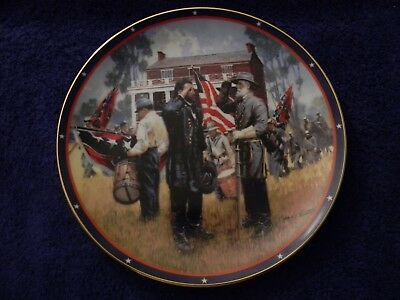 The American Civil War Plate Collection; Generals Grant & Lee At Appomattox
