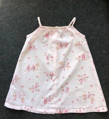 Preowned Pale Pink Petit Bateau Sundress baby girl age 12 Months