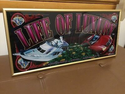 Slot machine art glass (Life Of Luxury)