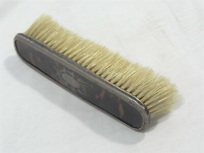 925 Sterling Silver & Tortiseshell Small Antique Decorative Vanity Brush