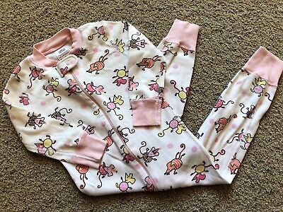 LkNw HANNA ANDERSSON BABY GIRL 80 18-24M SLEEPER PAJAMAS ORGANIC COTTON MOUSE