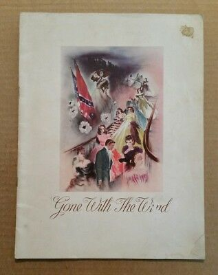 """Gone With The Wind"" VINTAGE Movie Program,1939"