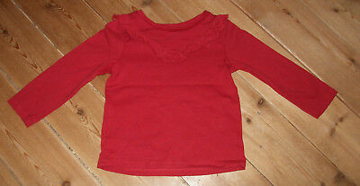 Christmas red long sleeve  cotton top / t-shirt size 18-24 months / 1.5-2 years