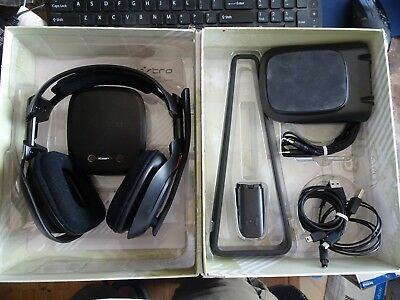 Astro A50 Gaming Headset ps4 gen 2. holder, mixamp, and various cords
