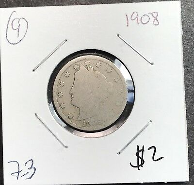 1908 Liberty V Nickel. Nice Collector Coin For Your Collection.9