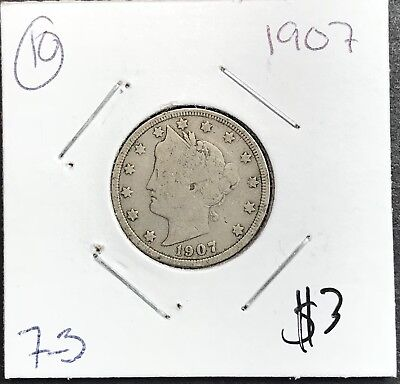 1907 Liberty V Nickel. Nice Collector Coin For Your Collection.10