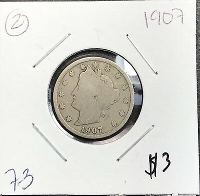 1907 Liberty V Nickel. Nice Collector Coin For Your Collection.2