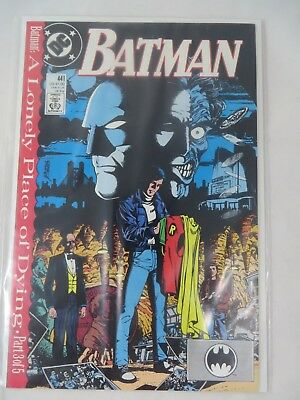 DC Comics Batman #441 from 1989 A Lonely Place of Dying Part 3 of 5
