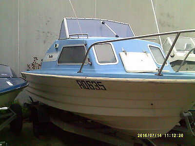 Cabin Cruiser Savage Pacific 16Ft 140Hp Evenrude Boat+ Trailer With Rego