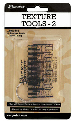 Texture Tools 2 - 6 Tools on Metal Ring - Ranger