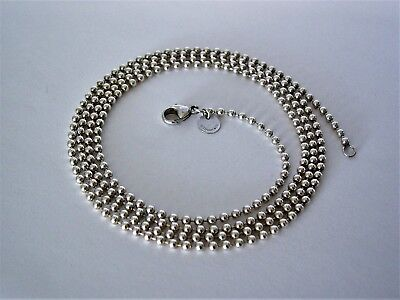 """TIFFANY & Co. Sterling Silver Ball Bead Necklace 34"""" Long"""