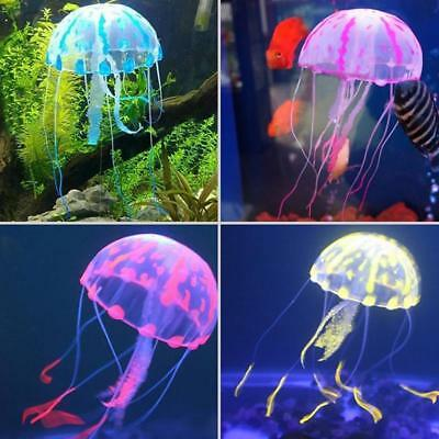 Vivid Jellyfish Glowing Effect Fish Tank Aquarium Artificial Silicone Decor nice