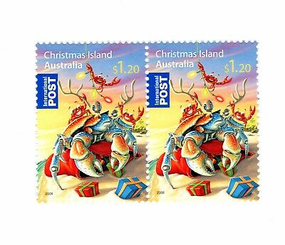 2008 Christmas island International Post MUH stamp pair