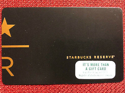 New Starbucks Reserve 2018 Us Gift Card Extremely Limited