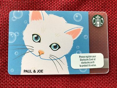 New Starbucks 2018 Thailand Paul & Joe Gift Card Limited Kitty Cat