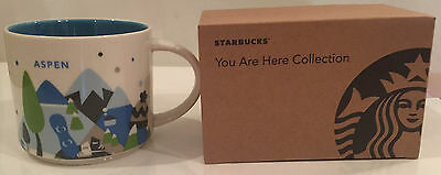 Aspen Colorado Starbucks You Are Here Collection Coffee Mug * Brand New * 14 oz