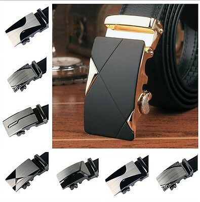 Men's Luxury Leather Automatic Buckle Fashion NO Waist Strap Belt Waistband ~
