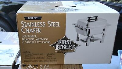 First Street stainless steel chafer Half size 16.5x12.2x 10.2 New