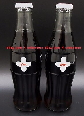 *HTF! 2001 Designer JC de Castelbajac Coca Cola 2 Bottle Set For Lovers YOU & ME