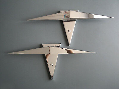 Couple very rare 80s postmodern XXL chrome halogen sconces | Shade 60 cm wide