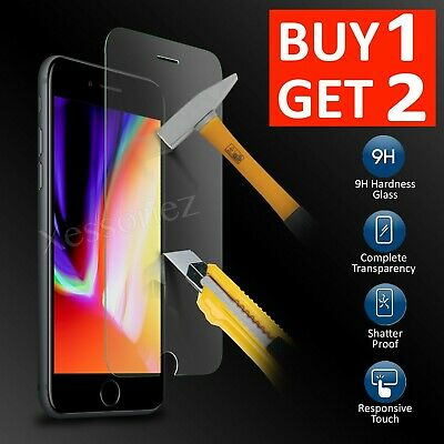 Tempered Glass Screen Protector Film For Apple iPhone 8 Plus - 100% Genuine