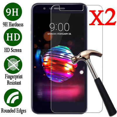 2Pcs For LG K10 K30 2018 9H HD Premium Tempered Glass Screen Protector Cover New