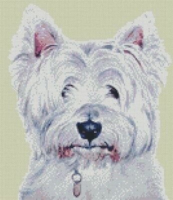 West Highland Terrier DOG Crossstitch KIT by florashell