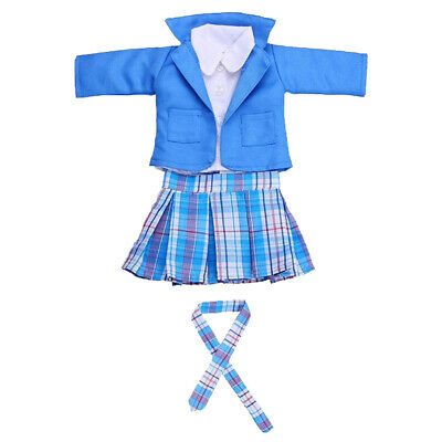 New Style 18 Inch Doll Outfits Working Uniform For Our Generation Dolls Blue