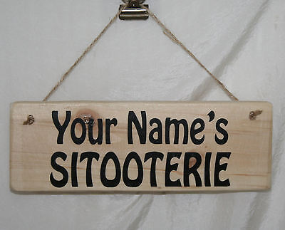 Personalised SITOOTERIE Hanging Outdoor Garden Sign Plaque Patio Shed Allotment