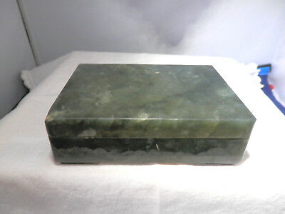 Chinese REPUBLICAN spinach jade/hardstone box