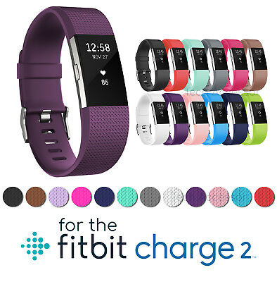 Replacement Silicone Sports Watch Band Strap Bracelet For FitBit Charge 2