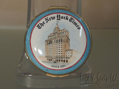 Halcyon Days Enamels THE NEW YORK TIMES Hinged Box