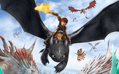 "006 How to Train Your Dragon 3 - The Hidden World Hiccup Movie 22""x14"" Poster"