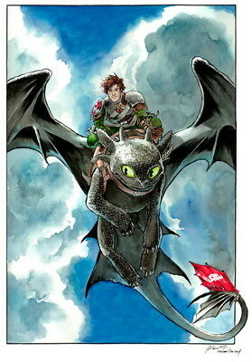 "012 How to Train Your Dragon 3 - The Hidden World Hiccup Movie 14""x20"" Poster"