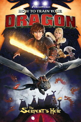 "008 How to Train Your Dragon 3 - The Hidden World Hiccup Movie 14""x21"" Poster"